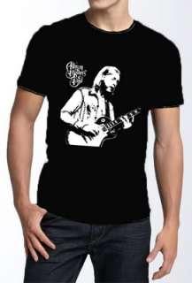 Duane Allman Guitar Retro 60s Vtg T Shirt Men L