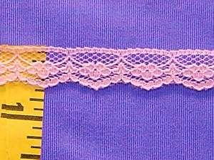 Scalloped Flat Lace Edging Trim Pink 5/8 20 yds #N45
