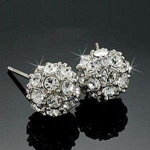 Beautiful ball Swarovski Crystal stud earrings
