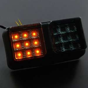 Lens Motorcycle Street Bike Integrated LED Taillight Turn Signals