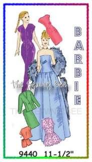 9440 Vintage Barbie doll Wardrobe Pattern 11 1/2