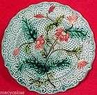 ANTIQUE SARREGUEMINES & VB MAJOLICA Art Pottery PLATE c1818 1850