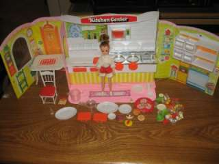 Vintage TAKARA JAPAN LISA Kitchen Center Playset w/ Rare Doll