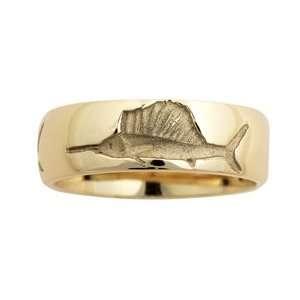 Reyes del Mar 14K Gold Carved Comfort Fit Slam Ring