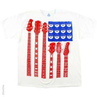 New RED WHITE AND BLUE GUITARS T Shirt