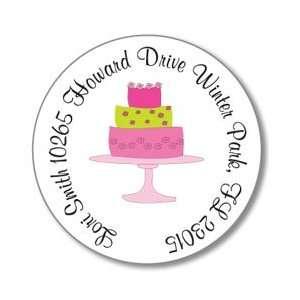 Polka Dot Pear Design   Round Stickers (Patty Cakes)