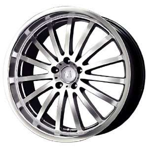 Mandrus Wheels Millennium Series Hyper Silver Machined Wheel (22x10.5