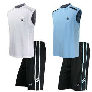 New Men Boy Gym Workout Short Sleeveless Shirts Tops & Pants Sports
