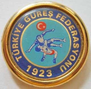 Turkey sport badge Turkish Wrestling Federation f 1923
