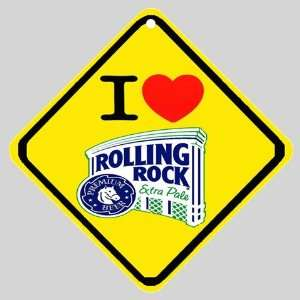 I Love Rolling Rock Beer Logo Car Window Sign Everything