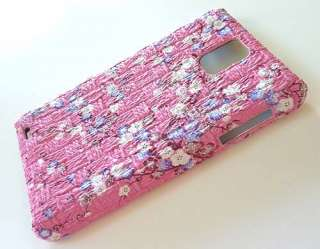 For Samsung Infuse 4G i997 Designer Pink Leather Phone Case Cover