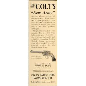 1906 Ad Colts Patent Firearm Army Revolver 41 Calibres