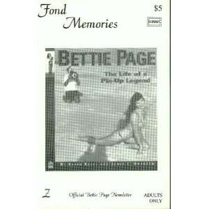 Fond Memories (Official Bettie Page Newsletter, #Z) Steve