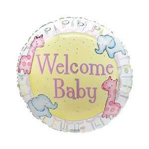 com Welcome Baby Giraffe & Elephants 18 Mylar Foil Baby Shower Party