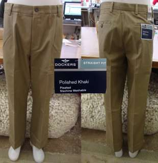 Dockers Polished Khaki Pants KHAKI 36 x 30 NWT