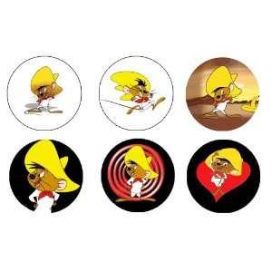Set of 6 Speedy Gonzalez Button / Pin / Badge 1.25