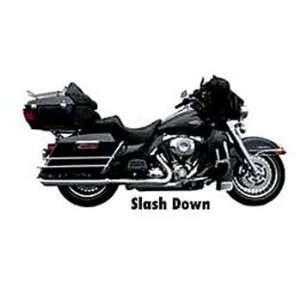 Rush Black Slash Down Muffler For Harley Davidson FL Touring Models