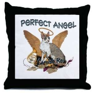 Cornish Rex Perfect Angel Pets Throw Pillow by CafePress