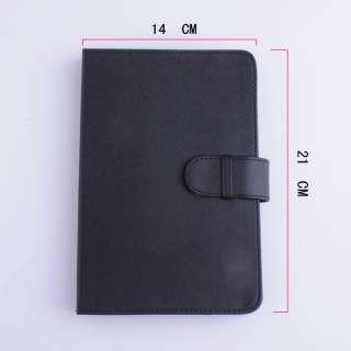 Faux leather bag sleeve case for 7 Ebook reader Tablet