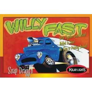 Snap Kit 1940 Willys Coupe Snap Draggins Car Model Kit Toys & Games
