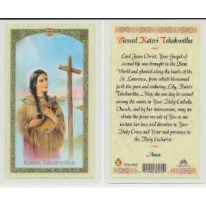 Blessed Kateri Holy Prayer Card Lily of the Mohawks Chromo