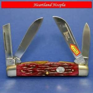 Frost Steel Warrior Congress with Red Walnut Jigged Bone Handles