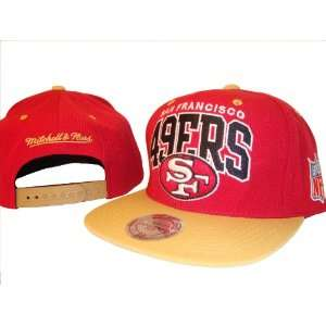 San Francisco 49ers Red & Gold Adjustable Snap Back Baseball Cap Hat