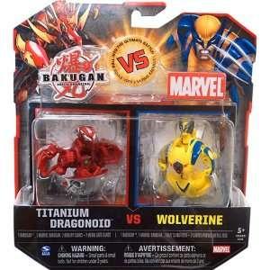 Bakugan vs. Marvel 2Pack Red Titanium Dragonoid vs Yellow