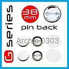 100 No 38mm G SERIES BUTTON PIN BADGE COMPONENTS 1.5 INCH MACHINE