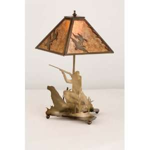 20H Duck Hunter W/Dog Table Lamp: Home Improvement