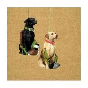 Ducks Unlimited In The Birches Yellow Labrador Dog Christmas Ornament