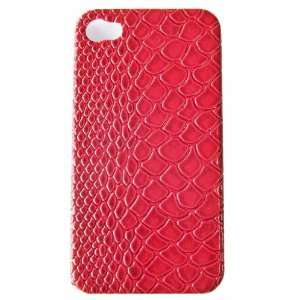 Plate Red Animal Python Print for Iphone 4 Cell Phones & Accessories