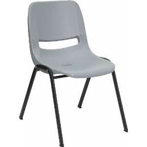 Flash Furniture Gray Ergonomic Shell Stack Chair