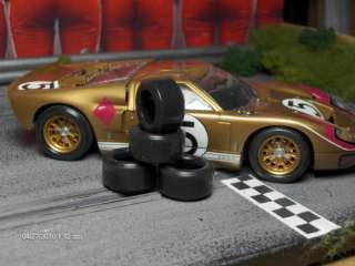 URETHANE SLOT CAR TIRE 2pr fit Scalextric Ford GT40 Race Tyre