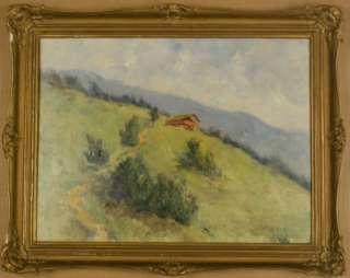 Max Rabes Alps Landscape German Artist Oil c1940 LISTED