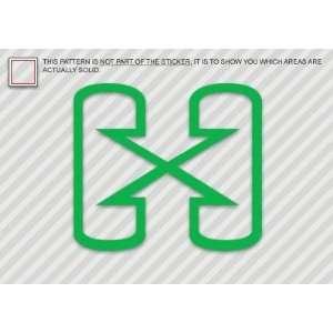 (2x) Hybrid Logo   Sticker   Decal   Die Cut Everything