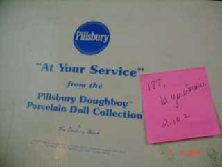 Pillsbury Dough Boy At Your Service Doll Danbury Mint