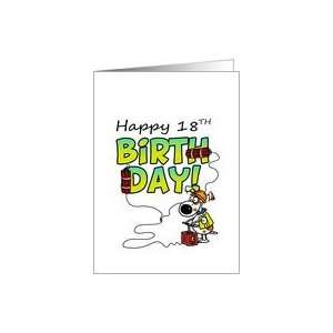 Happy 18th Birthday   Dynamite Dog Card: Toys & Games