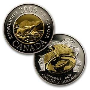Random Dates Canadian $2 Bimetal Proof (Gold/Silver) Toys & Games