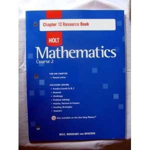 Holt mathematics, Course 2 Resource book (9780030783098