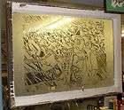 Antique Window w/John Wayne American Flag Etching God Bless America