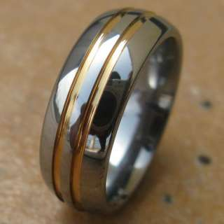 7mm New 18K GP Mens Tungsten Promise Ring Wedding Band