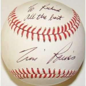 Autographed Tim Raines Baseball   1987 All Star Game EXPOS