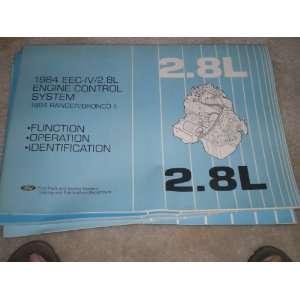 1984 EEC IV/2.8L engine control system ranger/bronco II