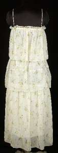 NEW WHITE CHOCOLATE Floral Printed Off White Dress Small S 4