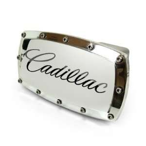 Cadillac Engraved Billet Aluminum Tow Hitch Cover Automotive