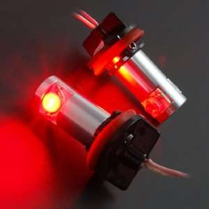 High Power Visible Nighttime H8 SMD 6W Diamond Red LED Angel Eye Head