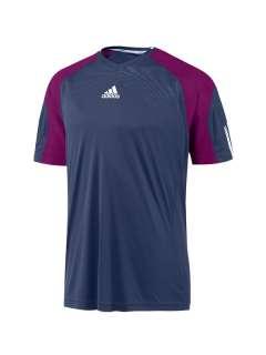 Adidas Edge Mens Climacool White / Navy Tennis T Shirt – Short