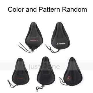 Bike Bicycle Soft Gel Seat Pad Saddle Cushion Cover blk