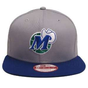 Dallas Mavericks Retro New Era Logo Snapback Cap Hat Grey